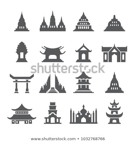 tempel · icon · Grieks · museum · toerisme · kolommen - stockfoto © Myvector