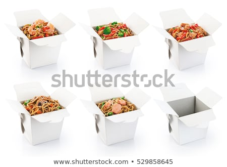 Chinese food box with white background Stock photo © blotty