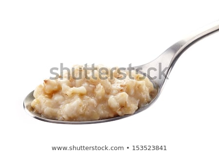 スプーン オートミール 新鮮な 全体 穀物 白 ストックフォト © kornienko