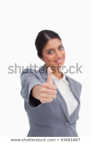 Approval given by female entrepreneur against a white background stock photo © wavebreak_media