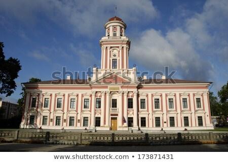 塔 · 建物 · ラトビア · アカデミック · 冬 - ストックフォト © inarts