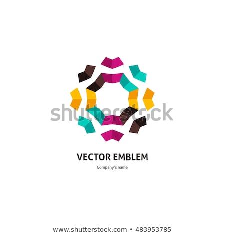 ヴィンテージ 暗い オリエンタル 万華鏡 抽象的な 飾り ストックフォト © marinini