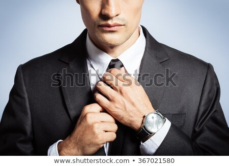 Imprenditore cravatta business faccia suit Foto d'archivio © photography33