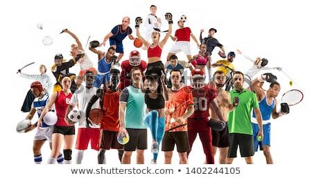 futball · büntetés · rúgás · háttér · mező · zöld - stock fotó © lightsource