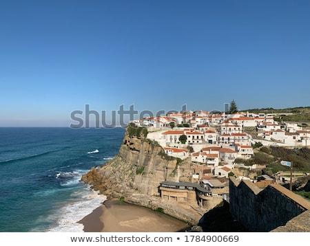 panorama · praia · cidade · vermelho · onda · europa - foto stock © lianem