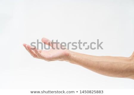 Hand with receiver Stock photo © pressmaster