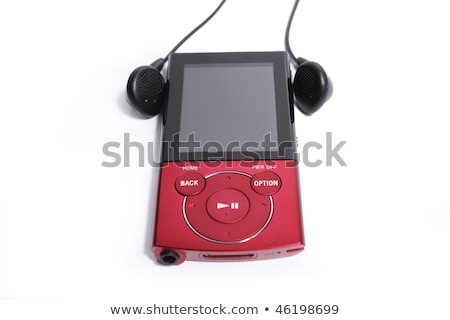 red portable mp3 player Stock photo © Grazvydas