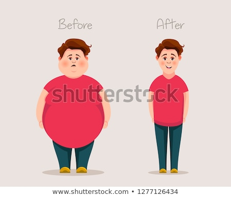 Fat Boy - Cartoon Character- Vector Illustration Stock photo © indiwarm