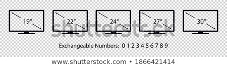 Isolated 20'' LCD Screen Stock photo © eldadcarin