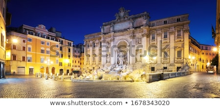 trevi fountain overview night rome italy stock photo © billperry
