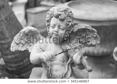 melek · kanat · hale · ayarlamak · görüntü · kalem - stok fotoğraf © cteconsulting