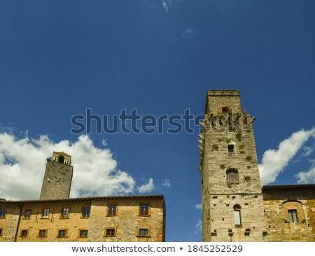 medieval stone devil tower san gimignano tuscany italy stock photo © billperry