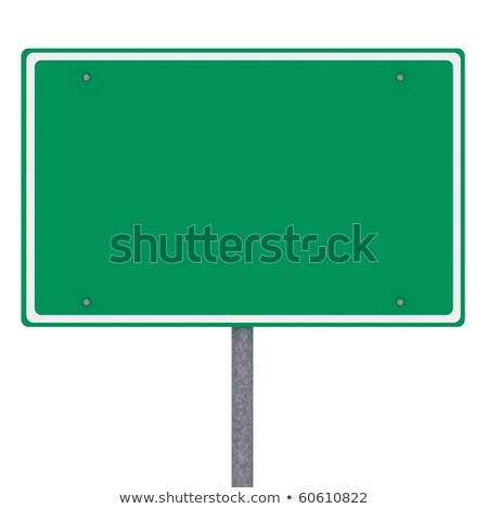 Blank American city limits sign Stock photo © creisinger