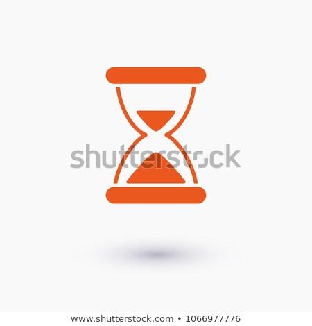 抽象的な 砂時計 ボタン ビジネス インターネット デザイン ストックフォト © rioillustrator