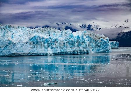 Lodowiec Alaska mały łodzi pierwszy plan statek wycieczkowy Zdjęcia stock © TeamC