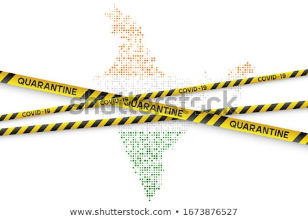 Stock photo: Flag with biohazard sign