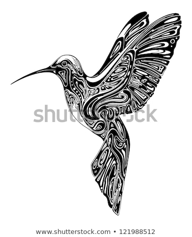 colibri tattoo black and white Stock photo © Move_On