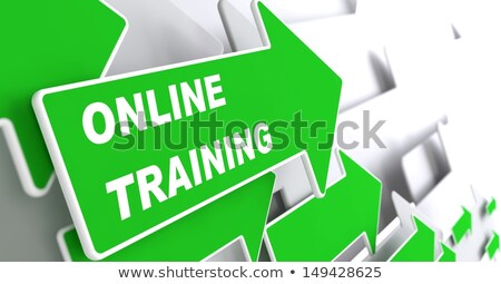 Zdjęcia stock: Online Training In Arrows