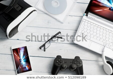 Stockfoto: Aptop · met · gokkenautosimulator