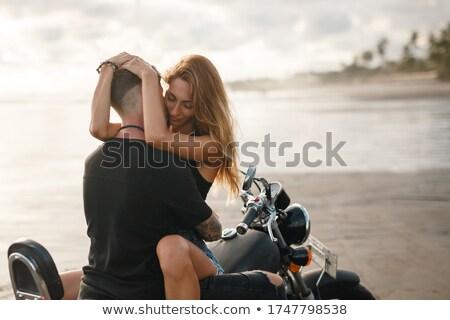 мотоцикл · женщину · аннотация · Blur · довольно - Сток-фото © arenacreative