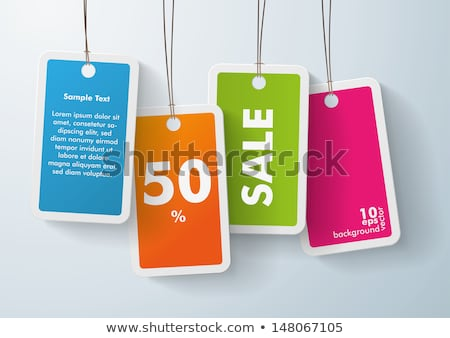 shopping price tags in 4 colors stock photo © mikemcd