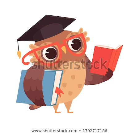 Wise owl reading book Stock photo © 5xinc
