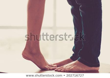 Ayaklar çift adam kadın soyut Stok fotoğraf © Lighthunter