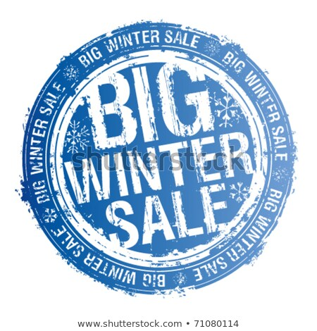 Rubber stamp winter promotion  Stock photo © Ustofre9