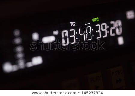 Macro shot-display of the broadcast video player Stock photo © d13