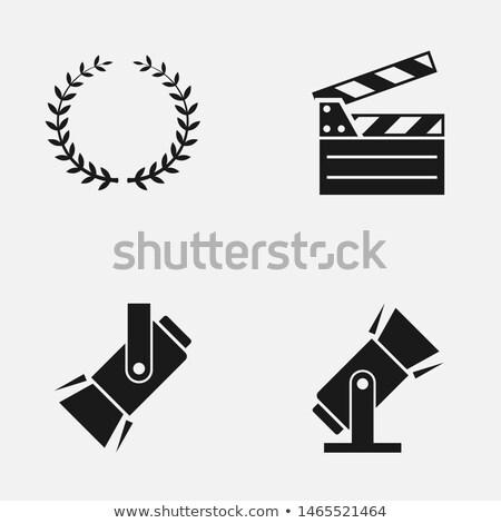 Icon film video bioscoop scène tv Stockfoto © Myvector
