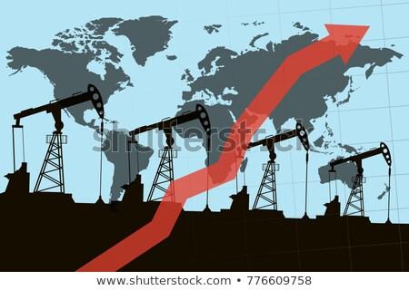 benzin · árak · illusztráció · terv · pénz · papír - stock fotó © alexmillos