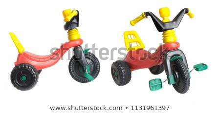 toddler seats on the big car toy Stock photo © bokica