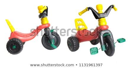 мало · мальчика · верховая · езда · красочный · игрушку · лошади - Сток-фото © bokica