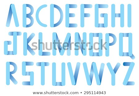 Complete alphabet in round serif characters Stock photo © adrian_n