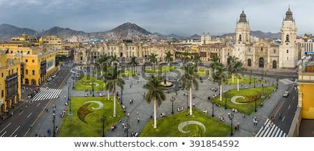 Katedral lima Peru Bina kule din Stok fotoğraf © pxhidalgo