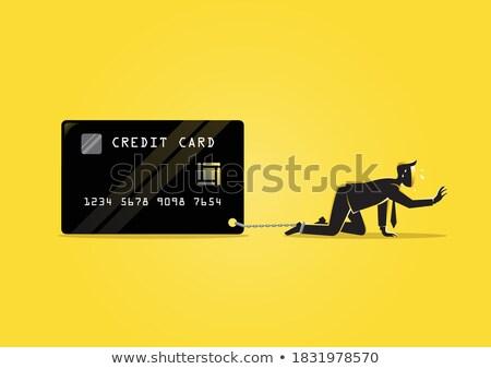 üzletember · láb · adósság · felirat · üzlet · illusztráció - stock fotó © kirill_m