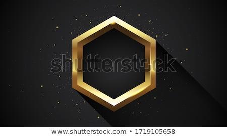 hexagone · métal · lumière · réflexion · résumé · wallpaper - photo stock © helenstock