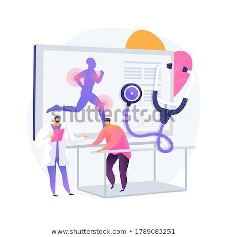 réhabilitation · supérieurs · patient · exercice · haltères - photo stock © tashatuvango