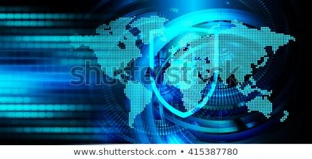 Fiabilité sombre numérique bleu couleur texte Photo stock © tashatuvango