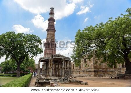 Steen Delhi achtergrond reizen architectuur patroon Stockfoto © meinzahn
