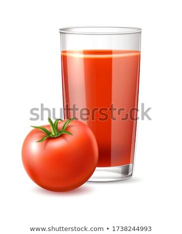 Stock fotó: Paradicsom · zöldség · dzsúz · üveg · izolált · fehér