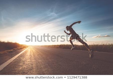 Lopen snel drugs pillen vorm atletisch Stockfoto © Fisher