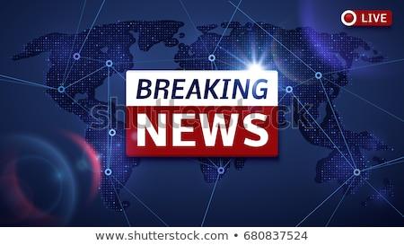 Breaking News Concept in Flat Design on Blue Background. Stock photo © tashatuvango