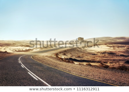 çöl · yol · Namibya · tozlu · Afrika · manzara - stok fotoğraf © imagex