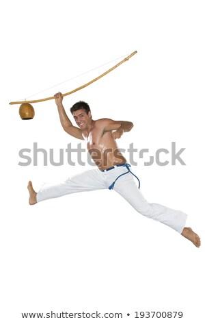 Capoeira férfi ugrik tart boldog sport Stock fotó © BrazilPhoto