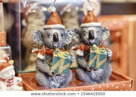 Fészek játék koala kék virágok ház Stock fotó © bbbar