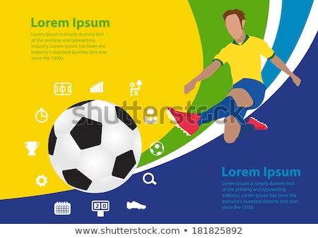 Бразилия 2014 баннер мяча Лучи дизайна Сток-фото © marinini