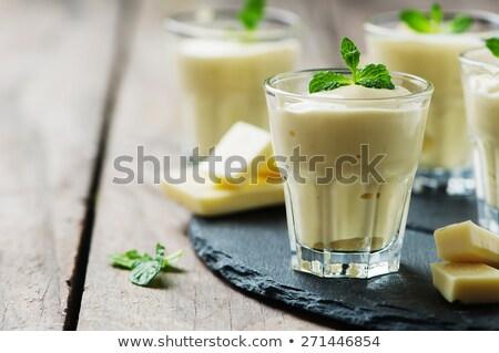 chocolate mousse and white cream Stock photo © M-studio