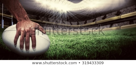 Ballon de rugby herbe stade domaine amusement Photo stock © OleksandrO