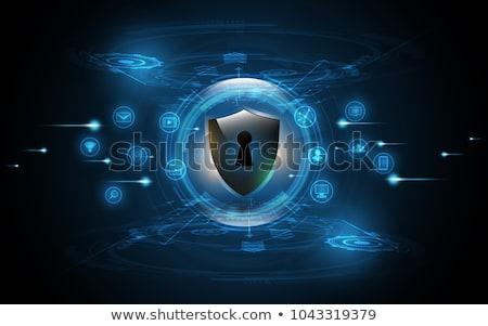 Segurança escudo buraco de fechadura eps 10 projeto Foto stock © lemonti